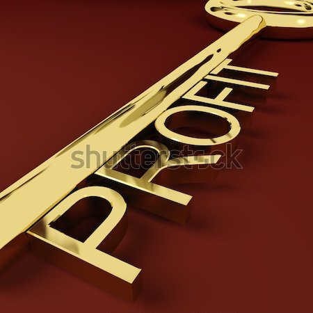 Goals Key Representing Aspirations And Intent Stock photo © stuartmiles