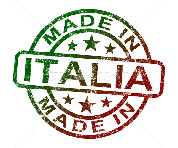 Made In Italia Stamp Shows Product Or Produce From Italy Stock photo © stuartmiles