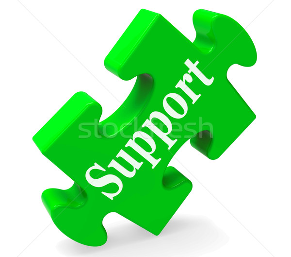 Stock photo: Support Shows Help Advice And Assistance