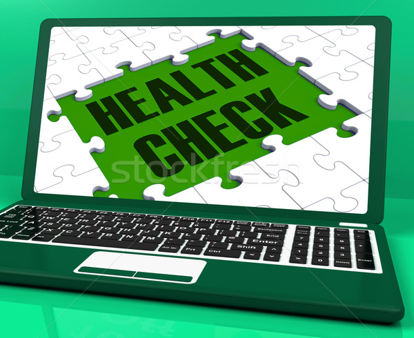 Health Check On Laptop Showing Medical Exams Stock photo © stuartmiles