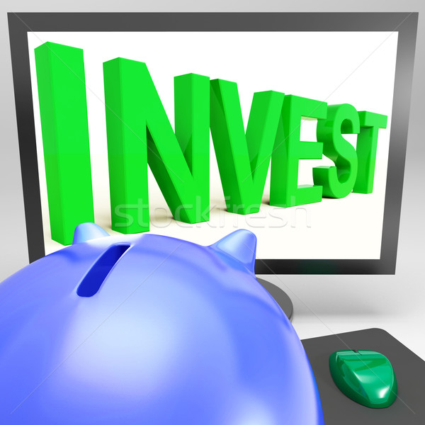Invest On Monitor Shows Wealth Growth Stock photo © stuartmiles