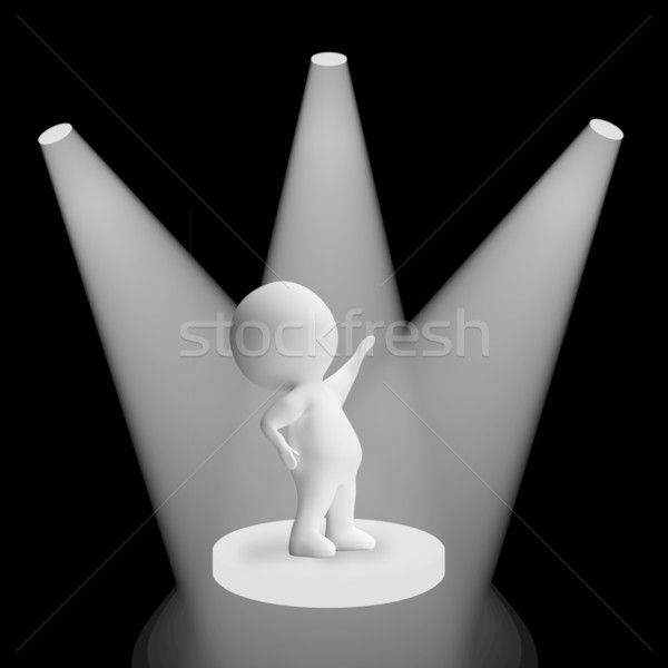White Spotlights On Character Showing Fame And Performance Stock photo © stuartmiles