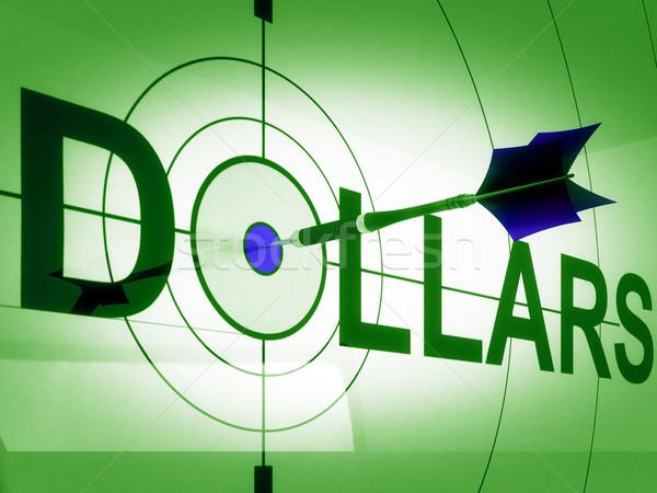 Dollars Means Bucks Cash Income Or Prosperity Stock photo © stuartmiles