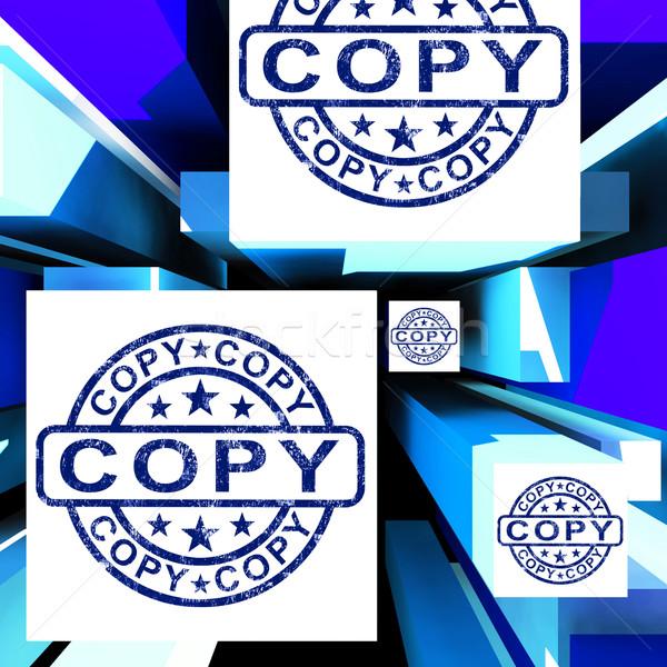 Copy On Cubes Shows Duplicates Stock photo © stuartmiles