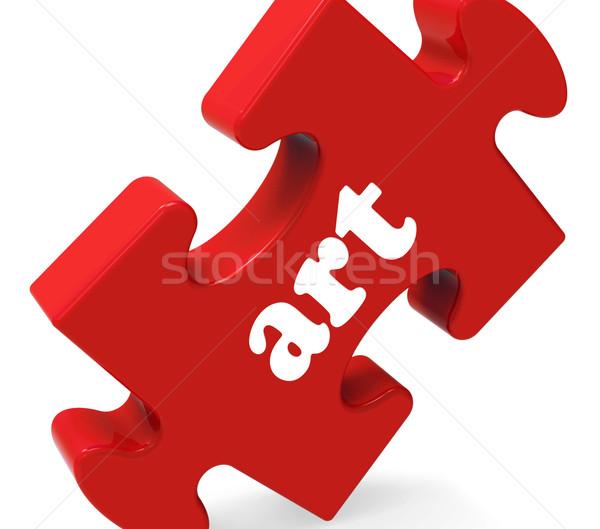 Art Puzzle Shows Creative Arts Artist And Artwork Stock photo © stuartmiles