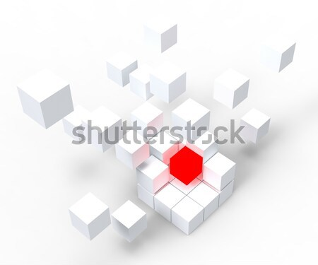 Incomplete Puzzle Shows Achievement Or Completion Stock photo © stuartmiles
