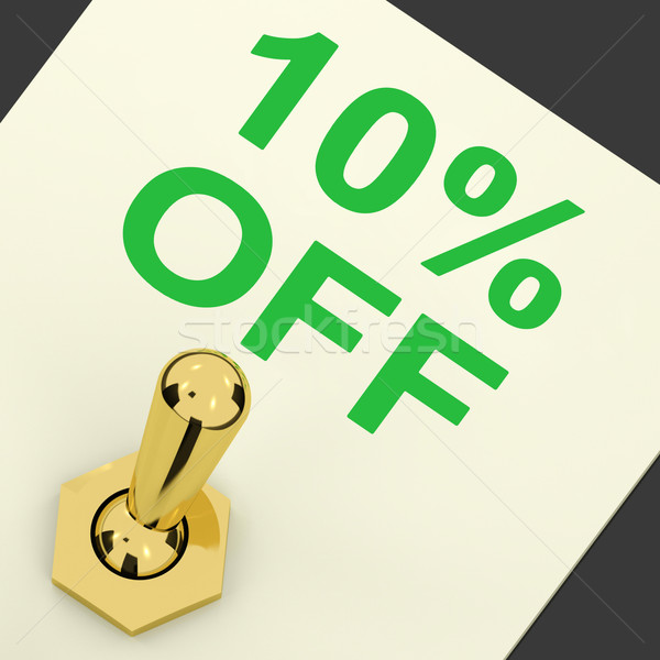 Switch Shows Sale Discount Of Ten Percent Off 10 Stock photo © stuartmiles
