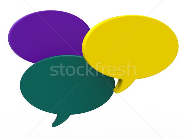 Szöveglufi copy space adatbázis chat ötlet mutat Stock fotó © stuartmiles
