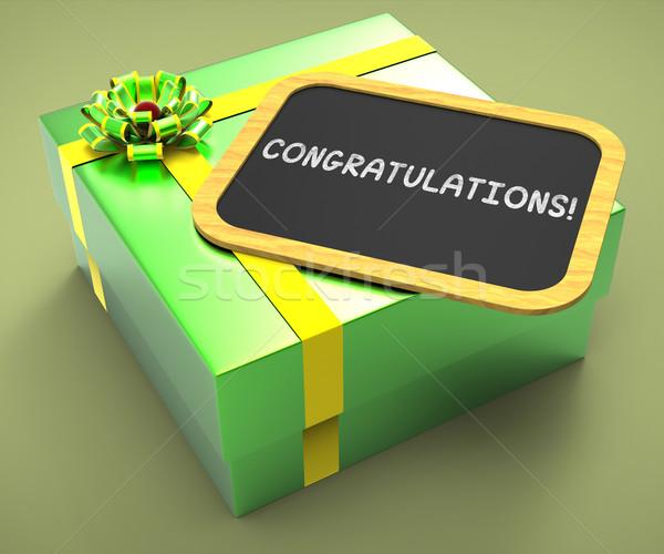Complimenti presenti carta successo celebrazione Foto d'archivio © stuartmiles