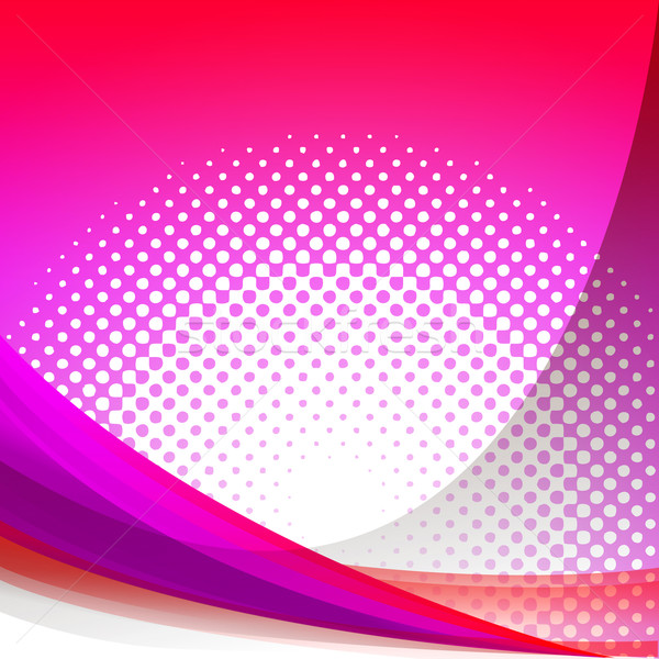 Dotted Pink Wave Background Shows Girly Gradation Wallpaper Or D Stock photo © stuartmiles