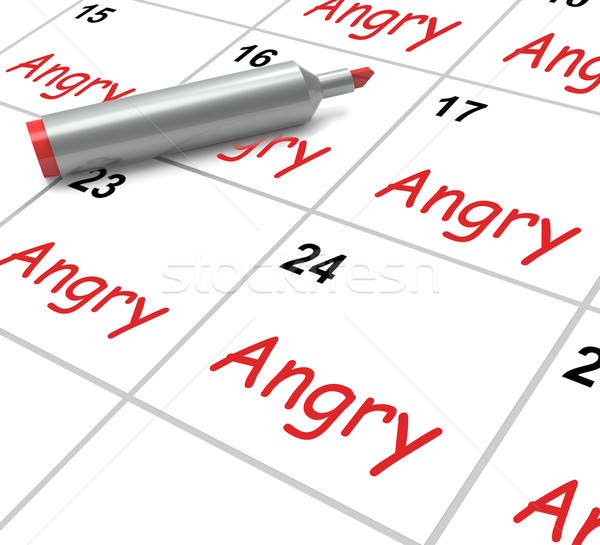 Angry Calendar Means Fury Rage And Resentment Stock photo © stuartmiles