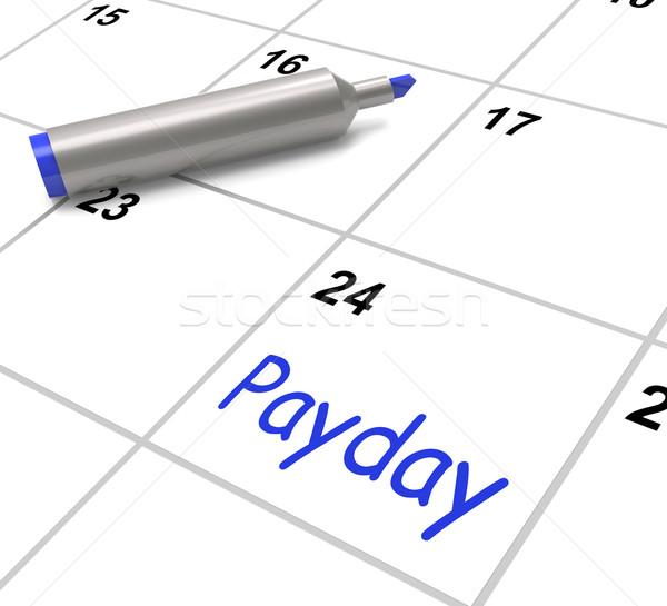Dia de pagamento calendário salário emprego trabalhar Foto stock © stuartmiles