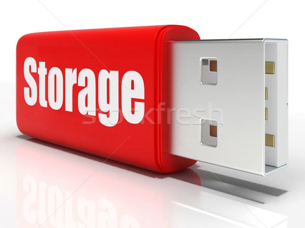 Przechowywania pióro dysk jednostka danych Zdjęcia stock © stuartmiles