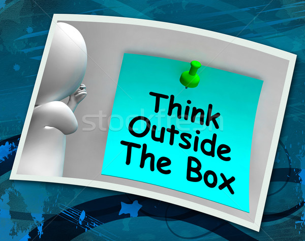 Think Outside The Box Photo Means Different Unconventional Think Stock photo © stuartmiles