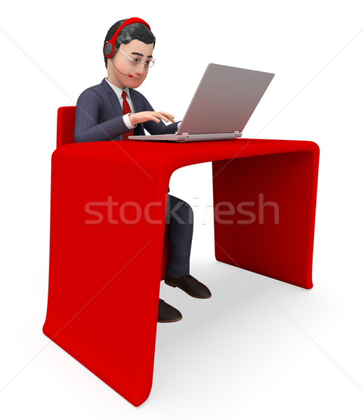 Businessman On Conversation Represents Chit Chat And Talk Stock photo © stuartmiles
