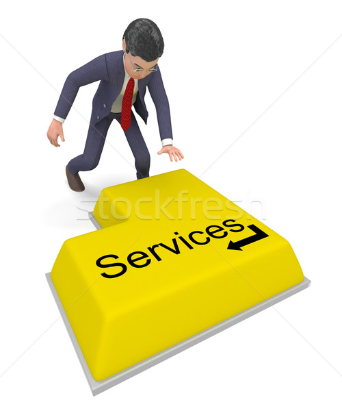 Businessman Selecting Services Represents Professional Businessmen And Biz Stock photo © stuartmiles