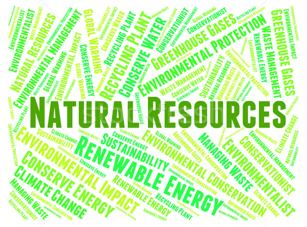 Natural Resources Represents Raw Material And Gas Stock photo © stuartmiles