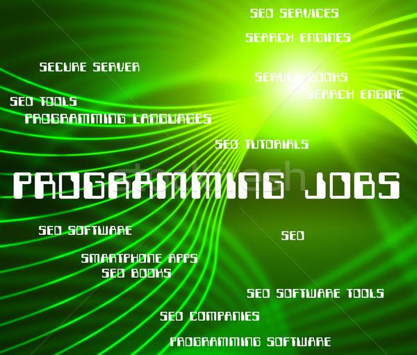 Programmazione offerte di lavoro software design sviluppo occupazione Foto d'archivio © stuartmiles