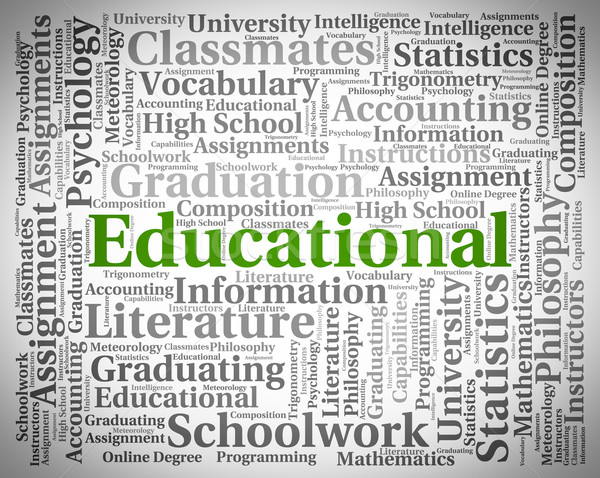 Educational Word Means Training College And Learn Stock photo © stuartmiles