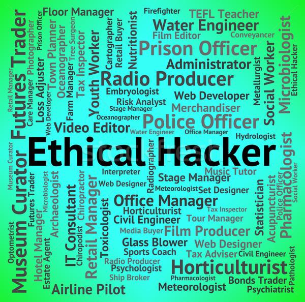Etik hacker sözleşme dışarı kariyer güvenlik Stok fotoğraf © stuartmiles