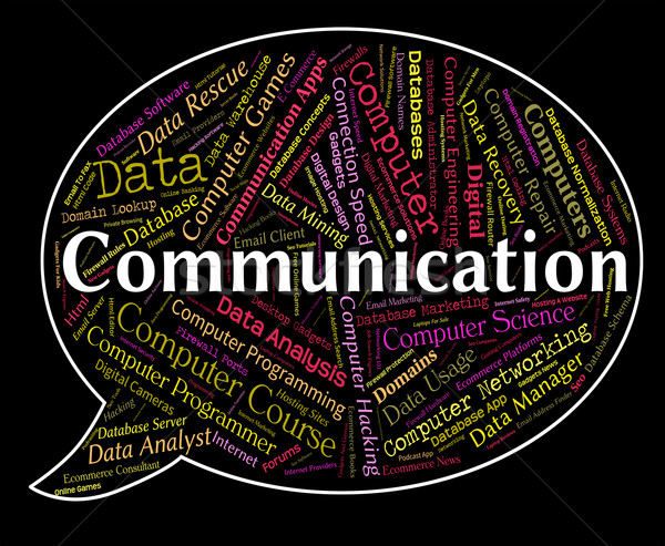 Communication Word Indicates Debate Communicating And Chatting Stock photo © stuartmiles