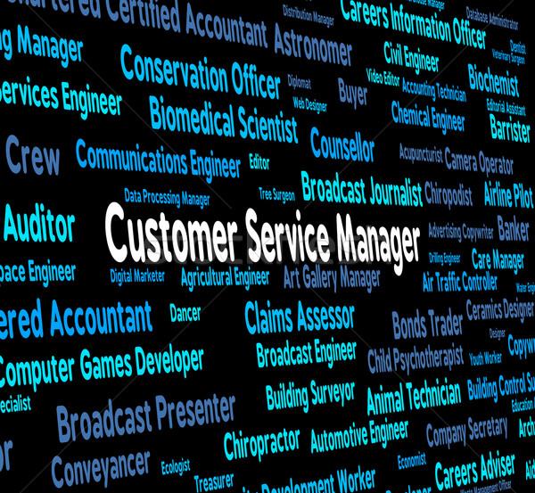 Kundendienst Manager Kunden Kopf Bedeutung Arbeit Stock foto © stuartmiles