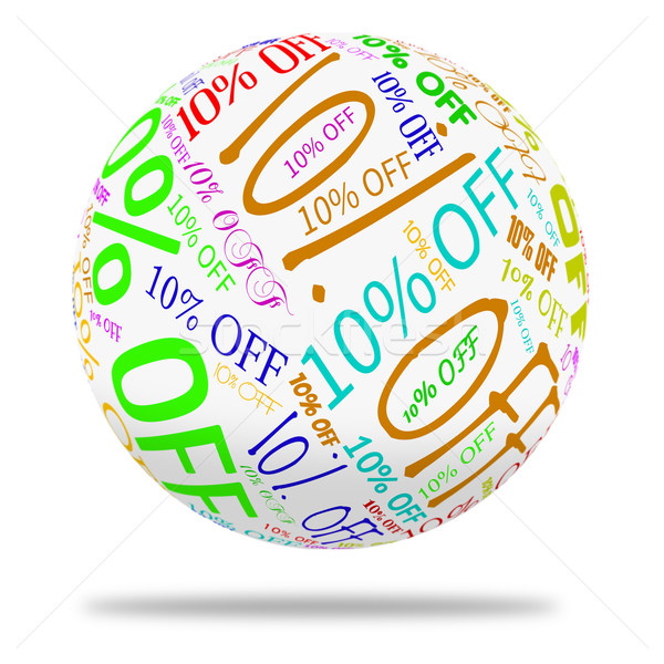 Ten Percent Off Means Sale Closeout And Offers Stock photo © stuartmiles