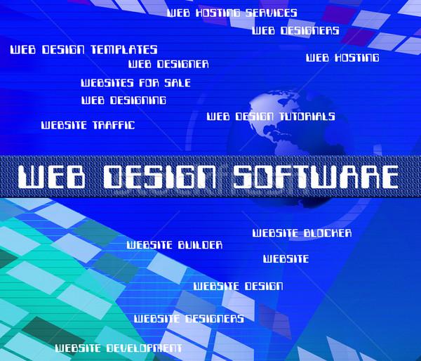 Web design software programmazione parole rete Foto d'archivio © stuartmiles