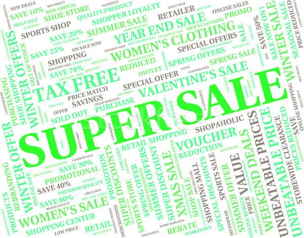 Süper satış perakende harika ucuz Stok fotoğraf © stuartmiles