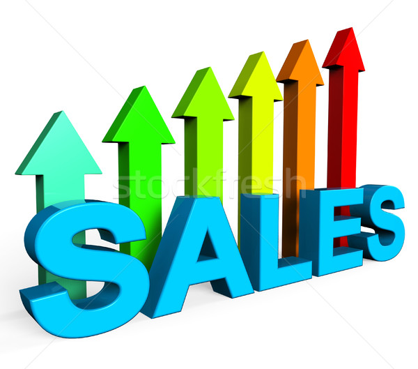 Sales Increasing Indicates Progress Report And Data Stock photo © stuartmiles