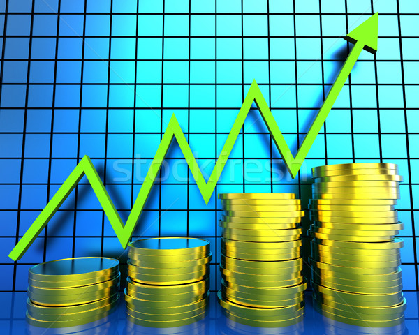 Increase Cash Graph Means Financial Report And Advance Stock photo © stuartmiles