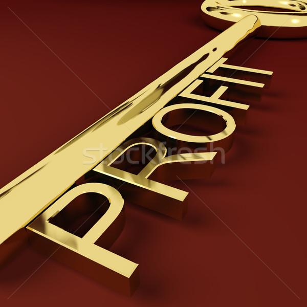 Beneficio clave mercado comercio ganancias oro Foto stock © stuartmiles