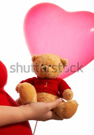 Valentine Teddy Bear Gift Or Present Stock photo © stuartmiles