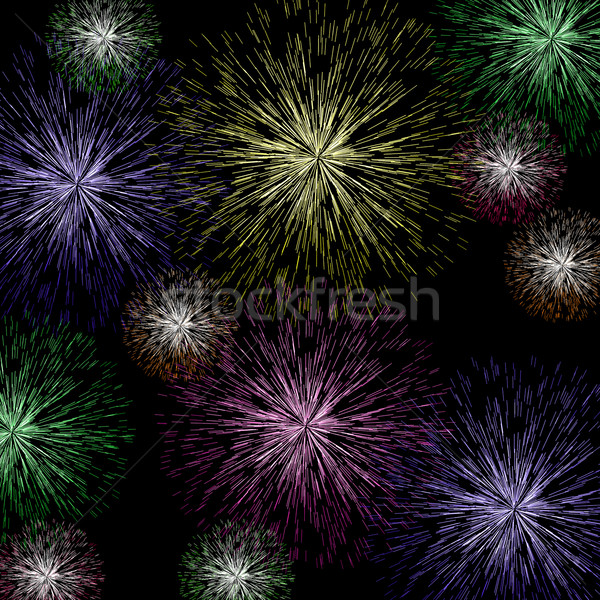 Exploding Firework Background As Holiday Or Independence Celebra Stock photo © stuartmiles