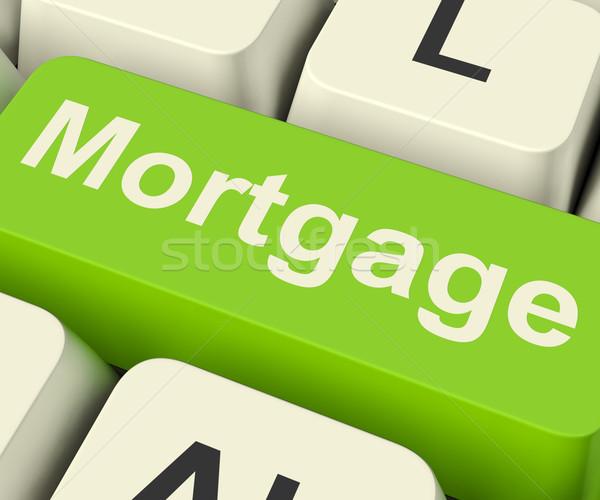 Jelzálog számítógép kulcs mutat online kredit Stock fotó © stuartmiles