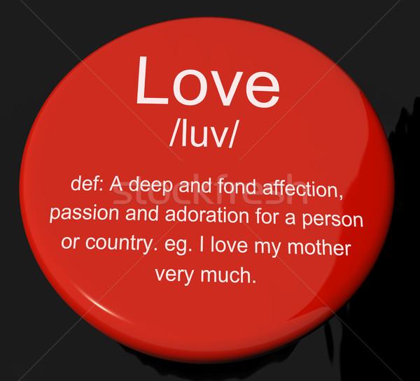 Amor definición botón amoroso Foto stock © stuartmiles