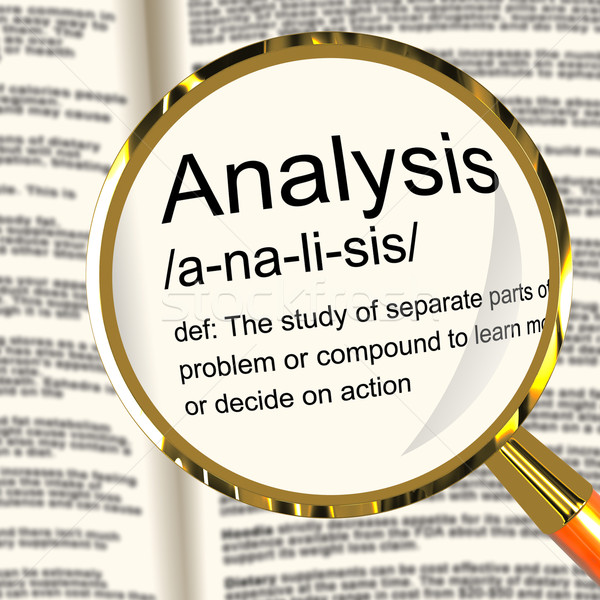 Analysis Definition Magnifier Showing Probing Study Or Examining Stock photo © stuartmiles