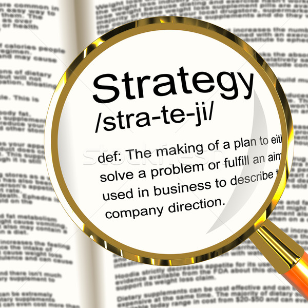 ストックフォト: 戦略 · 定義 · 計画 · 組織