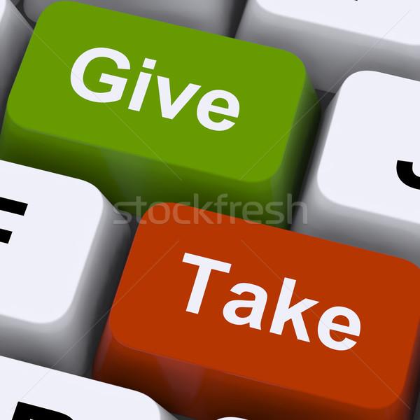 Give Or Take Keys Showing Compromise Stock photo © stuartmiles