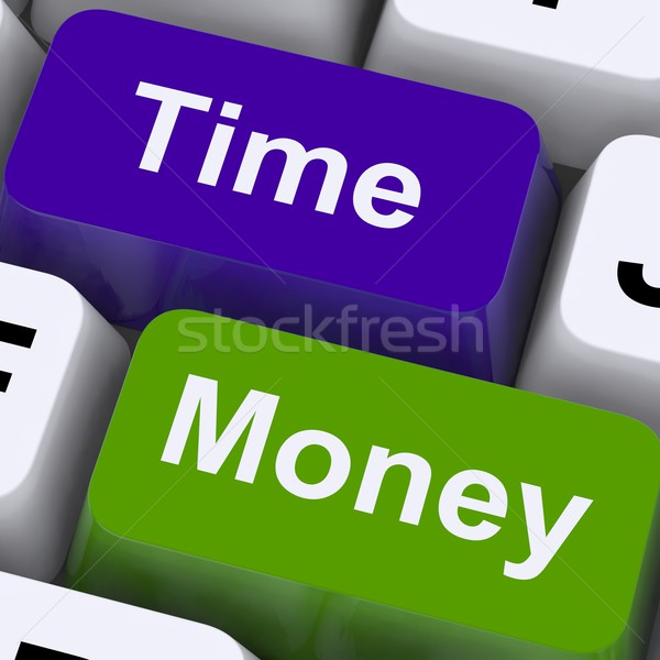 Time Money Keys Show Hours Are More Important Than Wealth Stock photo © stuartmiles