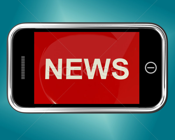 Сток-фото: Новости · заголовок · мобильных · онлайн · информации · СМИ