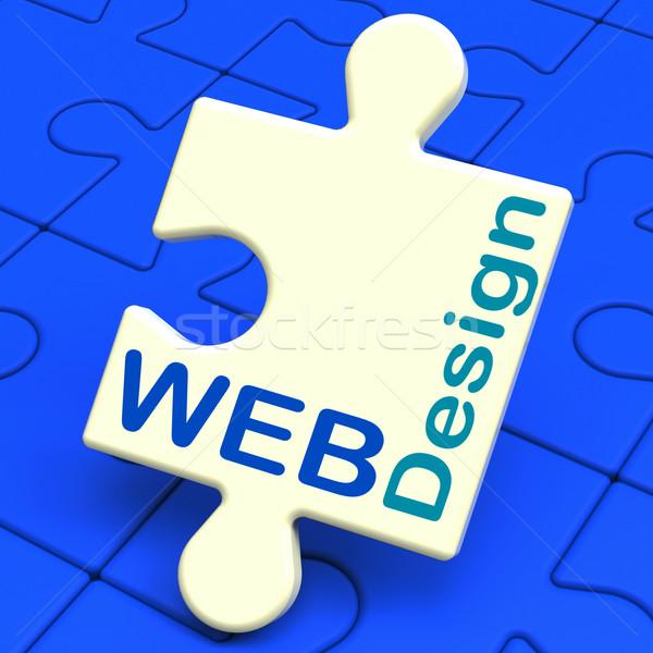 Web Design Shows Online Graphic Designing Stock photo © stuartmiles