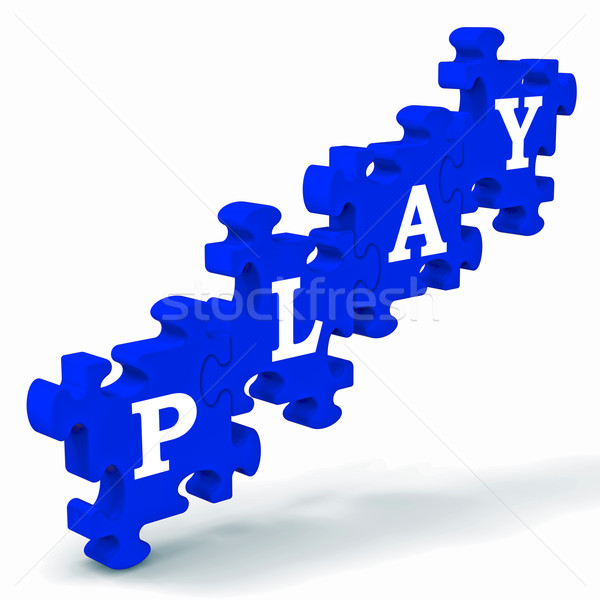 Play Puzzle Shows Kindergarten Playtime Stock photo © stuartmiles