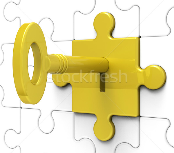 Key In Lock Shows Hidden Secrets Stock photo © stuartmiles
