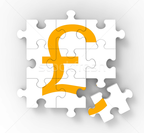 Pound Puzzle Showing Great Britain Banking Status Stock photo © stuartmiles