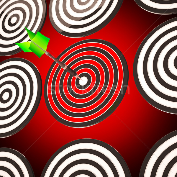 Bulls eye Target Shows Focused Competitive Strategy Stock photo © stuartmiles