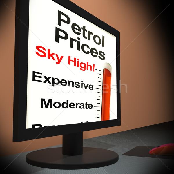 бензин цены контроля небе высокий Сток-фото © stuartmiles