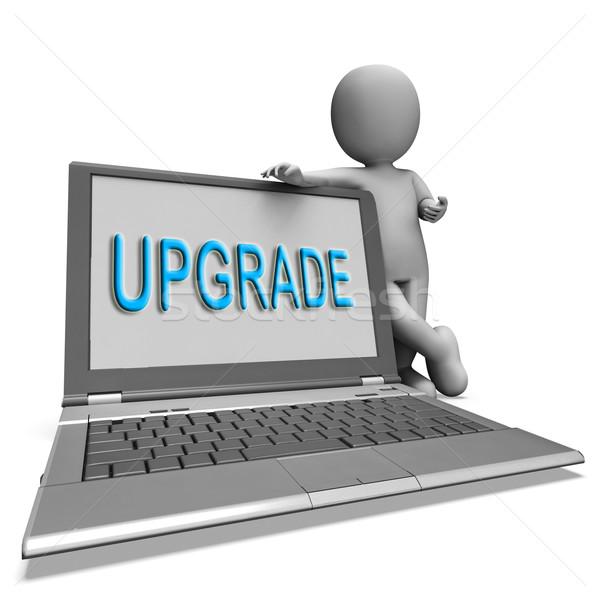 Aktualizacja laptop znaczenie Internetu Zdjęcia stock © stuartmiles