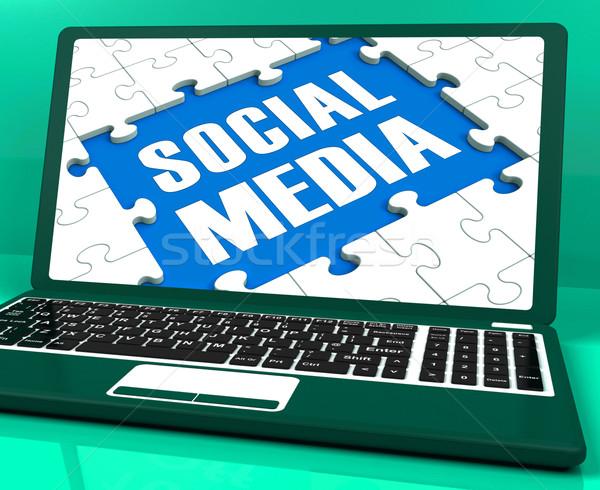 Laptop online parente internet Foto d'archivio © stuartmiles