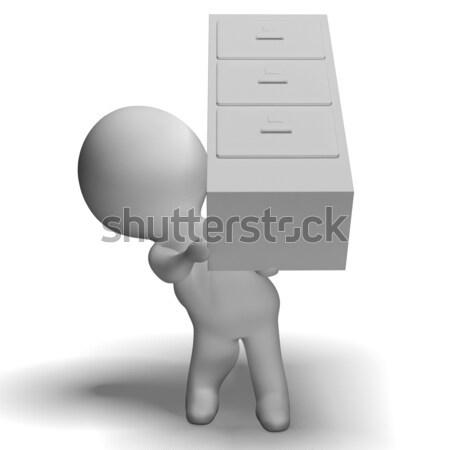 Organizado arquivos papelada informação dobrador Foto stock © stuartmiles